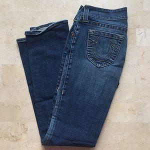 True religion boot cut jeans.